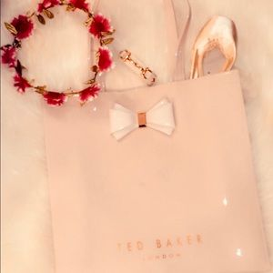 🎀TED BAKER light pink and rose gold tote